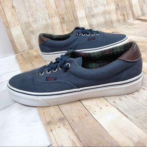 Vans Men's Era 59 Blue Size 10 Leather Cap Shoes